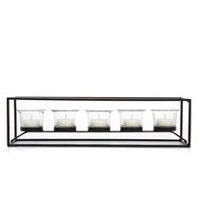 hometrends 5 T-light Rectangle Candle Holder Giftbox