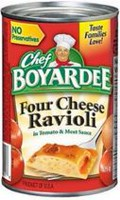 Chef Boyardee® Four Cheese Ravioli In Tomato and Meat Sauce