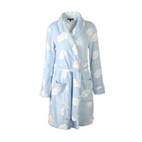 George Women's Plush Robe Blue S-M