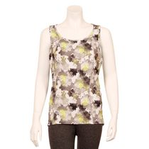 Athletic Works Women's Printed Missy Racer Back Tank Top Yellow S/P