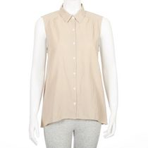 George Women's Linen Blend Blouse Taupe XL/TG