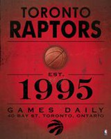 NBA Toronto Raptors Vintage Sign Canvas