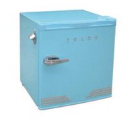 1.6 CUFT RETRO BAR WITH BOTTLE OPENER, BLUE