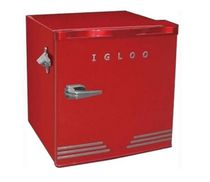 Igloo 1.6 Cuft Retro bar with Bottle Opener, Red
