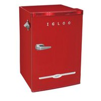 3.2 CU T  RETRO BAR FRIDGE, RED