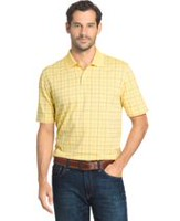 Arrow Men's Windowpane Polo Casual Shirt L