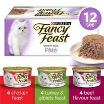 Fancy Feast Deli Supper Pate Variety Pack, Wet Cat Food 12 X 85g