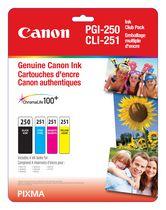 Canon - Emballage multiple d'encre PG-250 et CL-251 C,M,Y