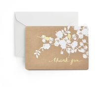 Gartner Studios Gold Foil Birds on Kraft 'Thank You' Cards
