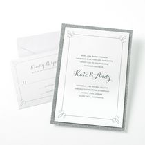 Gartner Studios Silver Glitter Invitation Cards