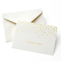 Gartner Studios Gold Foil Dot 'Thank You' Cards