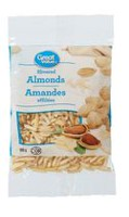 Amandes effilées de Great Value