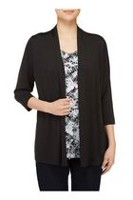 Alia Women's Fooler Cardigan with Inner Blouse XL