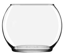 "Libbey Glass 3.9"" x 4.9"" Footed Bubble Ball"