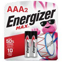 Energizer MAX Alkaline AAA Batteries, 2 Pack