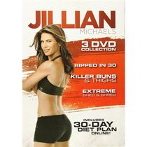 Jillian Michaels 3 DVD Collection: Ripped In 30 / Killer Buns & Thighs / Extreme Shed & Shred