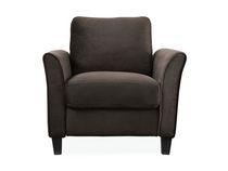 monarch specialties chaise en tissu accentu circulaire grise. Black Bedroom Furniture Sets. Home Design Ideas
