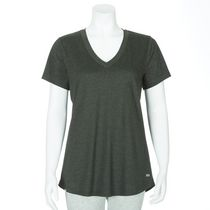 Athletic Works Women's V-Neck Short Sleeved T-Shirt Green XS/TP