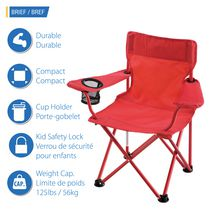 Ozark Trail Basic Maille Pliant Camp Chaise avec porte-gobelet bleu