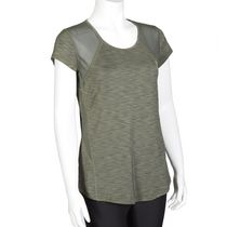 Athletic Works Women's Mesh Back Tee Green M/M