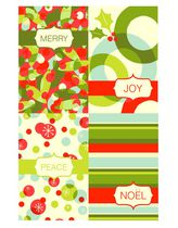 Christmas Boxed Cards-Graphic Red & Green Designs