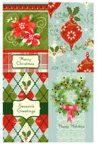 Christmas Boxed Cards-Traditional Argyle