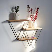 Truu Design Decorative Triangle Wooden Floating Wall Shelf