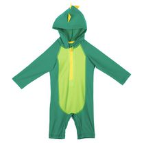 George Baby Boys' Hooded Rash Guard One-Piece Bathing Suit Green 12-18 months
