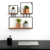Truu Design Decorative Square Wooden Floating Wall Shelf
