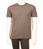 Athletic Works V-neck Block-Printed Men's Active Tee Gray L/G