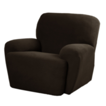 Pixel Slipcover for Recliner Dark brown wood