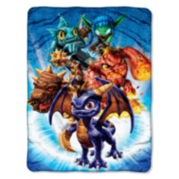 Skylanders Giants French Blue Plush Throw