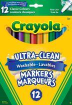 Crayola 12 Washable Fine Line Original Markers