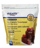 Equate No Calorie Sweetener with Sucralose 275g bag