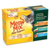 Meow Mix Pate Toppers Poultry and Sea Food Variety Pack wet Cat Food