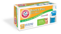 10 Pack Arm & Hammer Diaper Pail Refill Bags by Munchkin