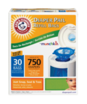 30 pack Arm & Hammer™ Diaper Pail Refill Bags by Munchkin