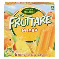 Fruttare® Mangue Barres de fruits congelés, paq. de 6 x 60 ml