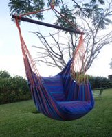Henryka Large Blue Stripe Hammock Swing