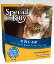 Special Kitty Multi-Cat Scoopable Cat Litter 18 kg