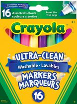 16 Washable Broad Line Markers - Colossal Collection
