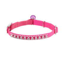 Hot Pink Jewelled Cat Collar