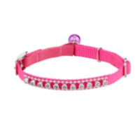 Aspen Hot Pink Jewelled Cat Collar