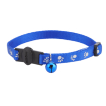 Blue Reflective Cat Collar Paw Prints