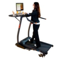 "Exerpeutic ""Desktop"" High Capacity Work & Fitness Electric Treadmill (Treadmill desk)"