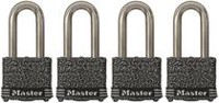 Master Lock 380QLFLIM 40 mm Laminated Steel Padlock - 4 Pack