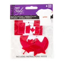 Next Style Canadian Flag & Maple Leaves Iron-on Applique Pack