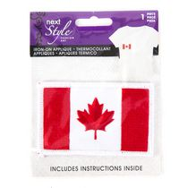 Next Style Canadian Flag Iron-on Applique