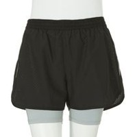 Athletic Works Women's 2-in-1 Shorts Black XL