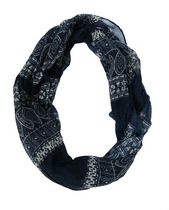 George Women's Light Weight Graphic Print Infinity Loop Scarf Blue